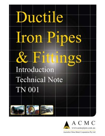Ductile iron pipes & fittings - ACMC