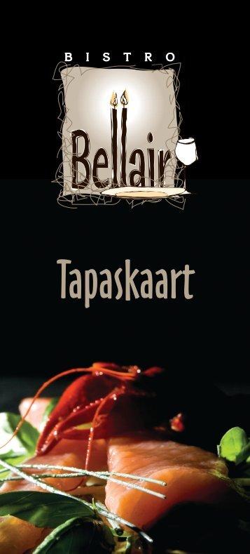 Bekijk onze tapaskaart in PDF-formaat - Bistro Bellair