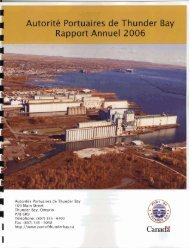 Rapport Annuel - Thunder Bay Port Authority