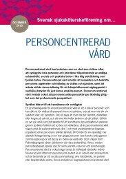 PErsoncEntrEraD vårD - Svensk sjuksköterskeförening