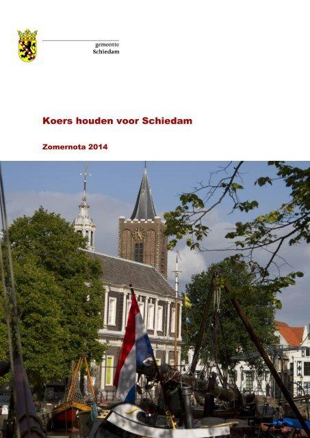 Zomernota 2014 - Gemeente Schiedam