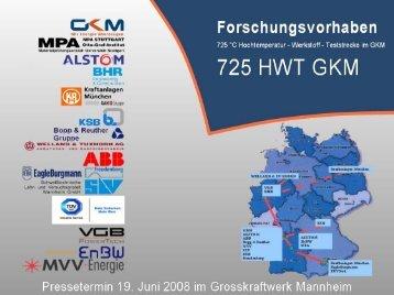 Vortrag - 725°C Hochtemperatur-Werkstoff ... - VGB PowerTech