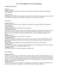 Kwartaal 2 les 10 de bijbel ons levensgeluk PDF - agp internet