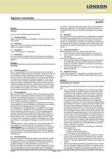 Algemene voorwaarden ALG101 - London Verzekeringen