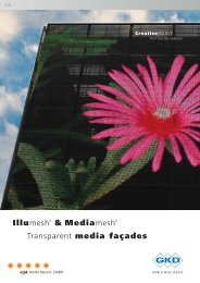 Illumesh® & Mediamesh® Transparent media façades