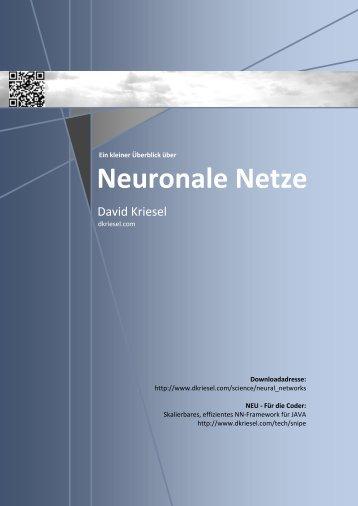 Neuronale Netze - D. Kriesel