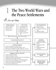 The Two World Wars and the Peace Settlements