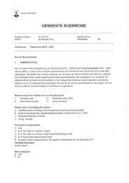 Raadsvoorstel - Gemeente Roermond