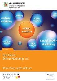 Das kleine Online-Marketing 1x1 - eBusiness-Lotse Mitteldeutschland