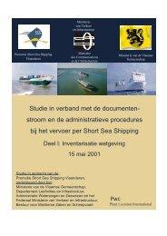 Studie in verband met de documenten - Shortsea Shipping ...
