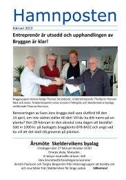 Hamnposten februari 2013 - Första