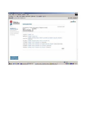 Rapport fra Erhvervs- og Selskabsstyrelsen - Opgaver