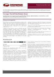 Central investorinformation - Carnegie WorldWide