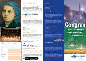 congresfolder - Titus Brandsma Instituut