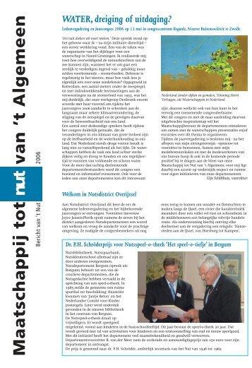 Bericht 2006 - Maatschappij tot Nut van 't Algemeen