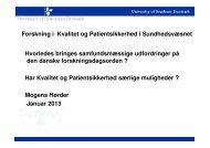 Præsentation 3 - DSKS - Dansk Selskab for Kvalitet i ...