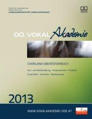 Broschüre PDF - Oö. Vokalakademie