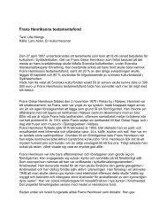 Frans Henriksons testamentsfond - Svenska kulturfonden