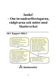 SKV Rapport 2004:3,Insikt! – Om ... - Skatteverket