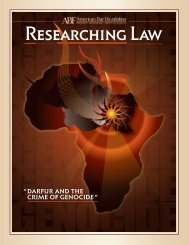 "darfur and the crime of genocide"" - American Bar Foundation"