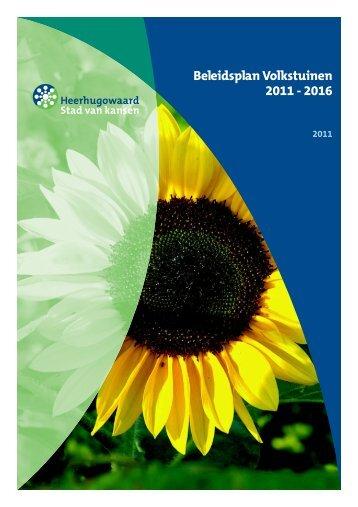 Beleidsplan Volkstuinen 2011 - 2016 - Gemeente Heerhugowaard