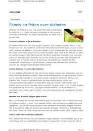 Fabels en feiten over diabetes - medisch fitness