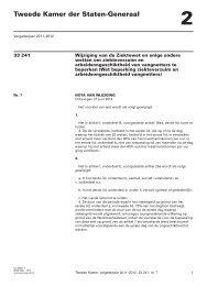 Nota van wijziging - Eerste Kamer der Staten-Generaal
