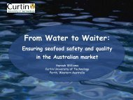 From Water to Waiter: Ensuring seafood safety and quality ... - PRAISE