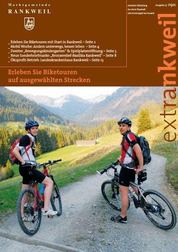 Erleben Sie Biketouren auf ausgewählten Strecken