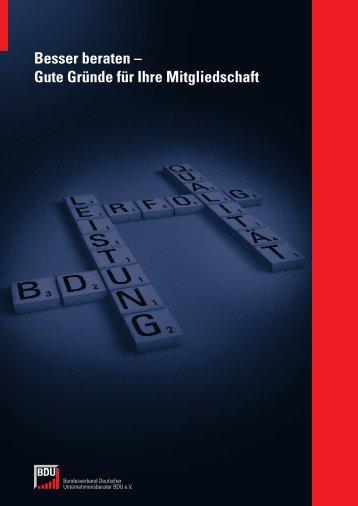 Gute Gründe für Ihre Mitgliedschaft - Bundesverband Deutscher ...