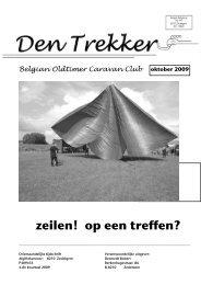 Den Trekker - oktober 2009 - Belgian Oldtimer Caravan Club