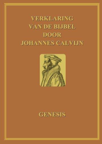 Commentaar op Genesis door Calvijn – genummerd - Ds. W. Pieters