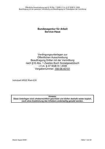 Verdingungsunterlagen zur - Bundesverband Deutscher ...