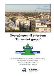 Slutrapport till Energimyndigheten - Elbil 2020