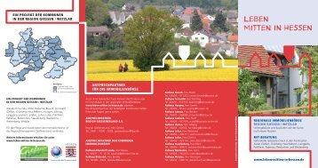 Faltblatt Leben mitten in Hessen / Format pdf