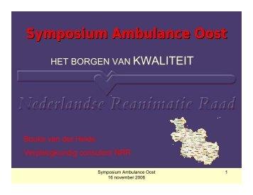 Symposium Ambulance Oost - WWW2 Ambulance Oost
