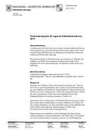 Ärende 11 Regional folkhälokonferens 2013.pdf - Karlskoga kommun