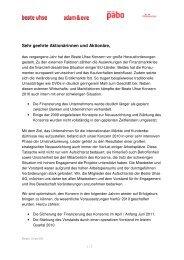 Sehr geehrte Aktionärinnen und Aktionäre, - Beate Uhse AG