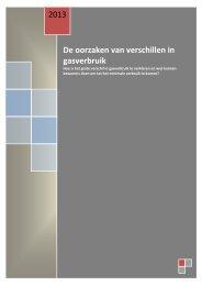 De oorzaken van het grote verschil in gasverbruik - Stichting ...