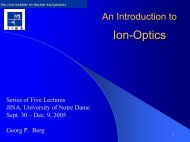 Ion-Optics - University of Notre Dame