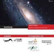 Solingen - Bergische Entwicklungsagentur Gmbh