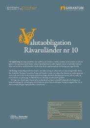 alutaobligation Råvaruländer nr 10