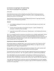 kommentarer til regeringens fremsatte forslag til en reform af ...