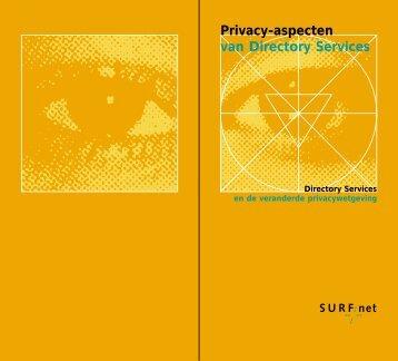 Privacy-aspecten van Directory Services - SURFnet