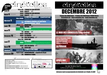 prog décembre 2012 - Cinétoiles