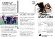 Höstprogram 2011 - Naturskyddsföreningen