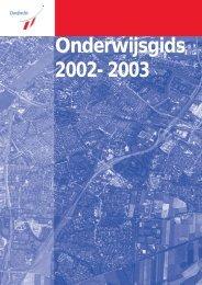 Onderwijsgids 2002- 2003 - Gemeente Dordrecht