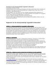 Reglement van de ontwerpwedstrijd 'Jugendstil in BinnenZee'