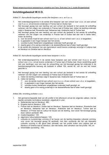 Bijlage wetgeving bij Protocol aanpassing en vrijstelling van Frans ...