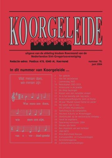 nummer 70 - 2004.pmd - SGV Roermond